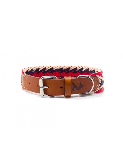 Peruvian Arrow red dog collar