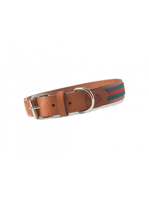 Baseball green dog collar