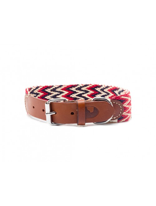 Peruvian red dog collar