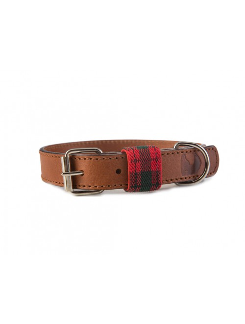 Edimburgh red dog collar