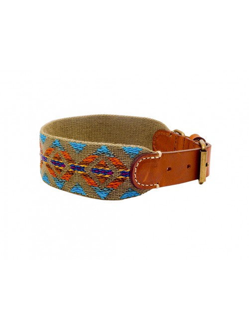 Etna green dog collar