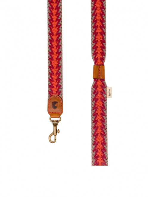 Peruvian Arrow orange dog lead