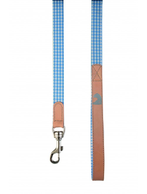 Vichy Baby blue dog lead
