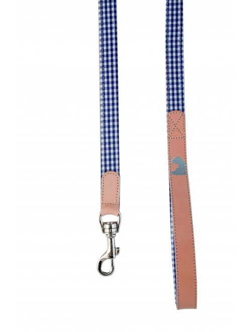 Vichy Navy dog lead
