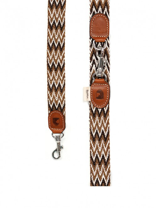 Peruvian brown  adjustable dog lead