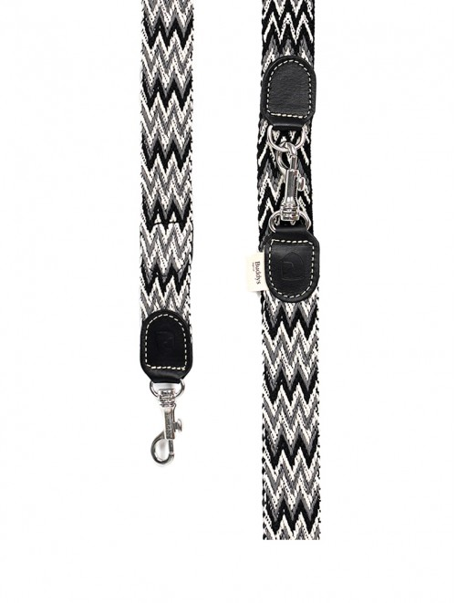 Peruvian black  adjustable dog lead