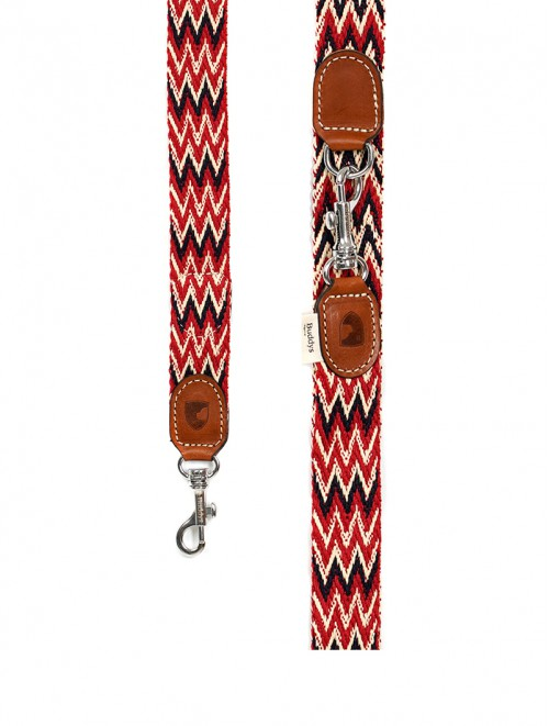 Peruvian Red  adjustable dog lead