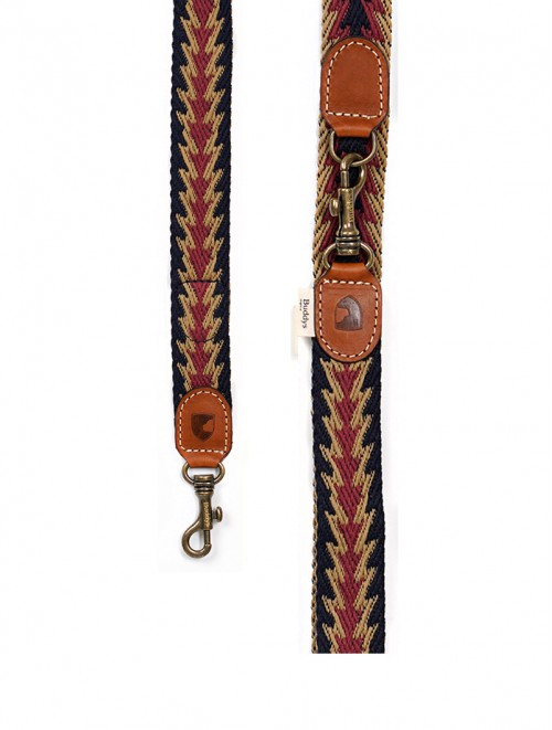 Peruvian Arrow blue adjustable dog lead