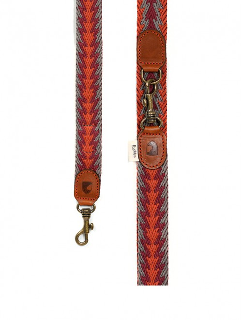 Peruvian Arrow Orange Adjustable dog lead
