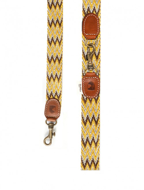 Peruvian Gold Adjustable dog lead